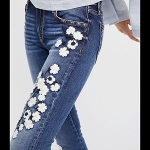 Free People Driftwood Floral Embroidery Raw Hem 27